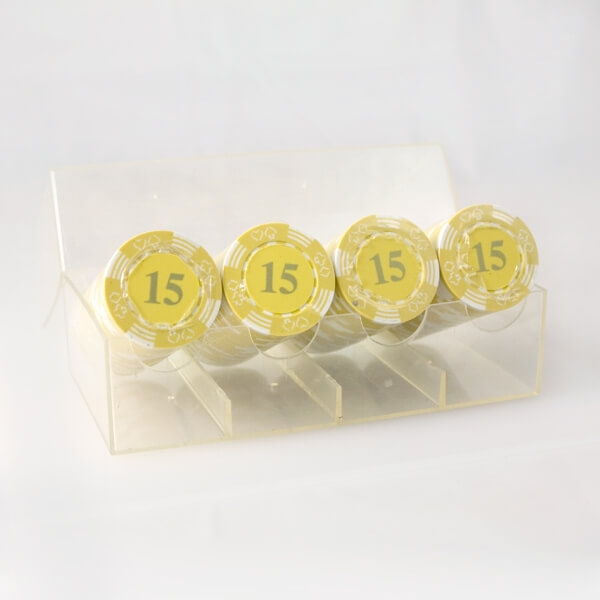 100 stk. Double Suited Chips 11,5 gram (Gul)