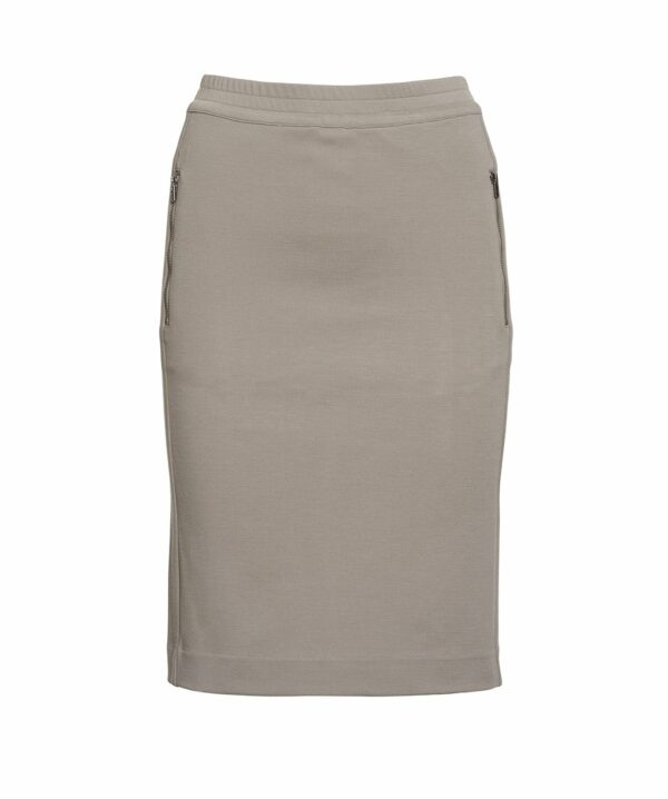 AISHA pencil skirt m. lynlås, beige