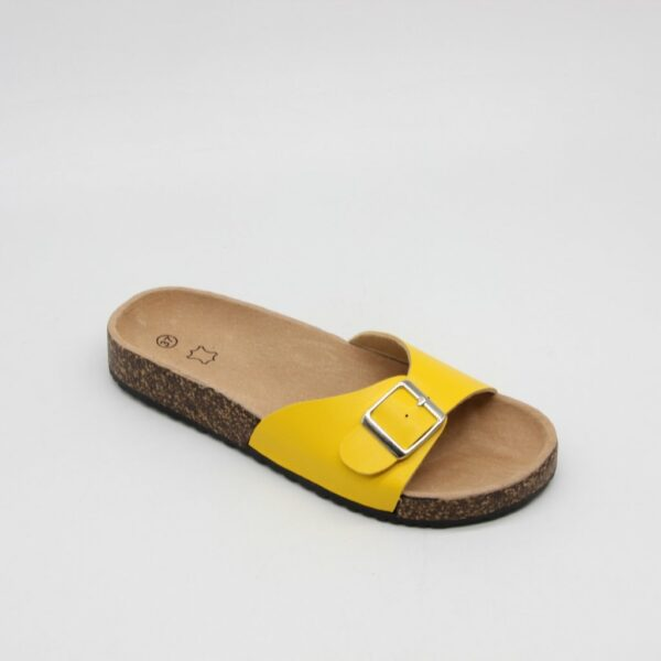 Dame Sandal Spænde Ideal Shoes - Yellow