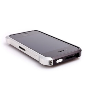 Element Vapor 4 Metal Frame til iPhone 4 and 4S. Sort/Silver.