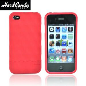 Hard Candy Bubble Slider Cover til iPhone 4. Rød