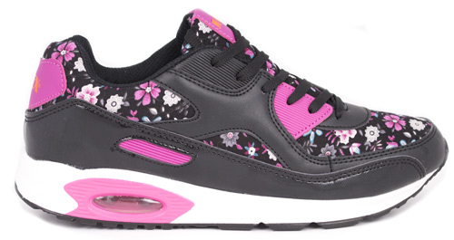 Jumex 90s Sneakers - Black Flower