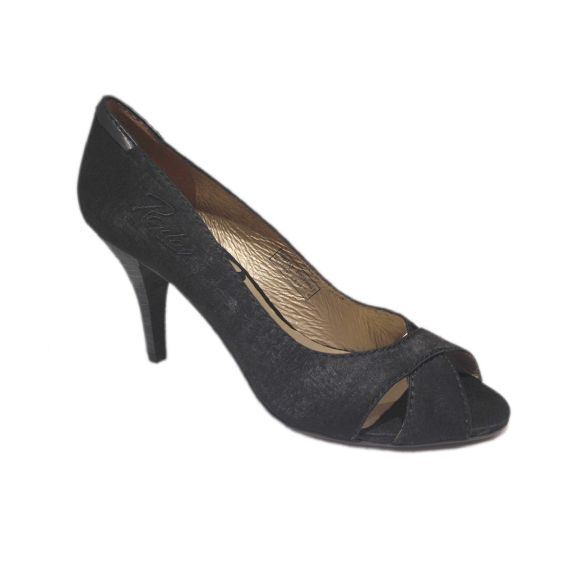 Replay Tangent peep toe stilet, damesko, sort