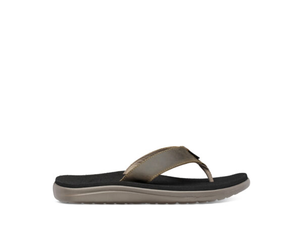 Teva M Voya Flip Leather - Sandal til mænd - Dark Olive - Str 44,5