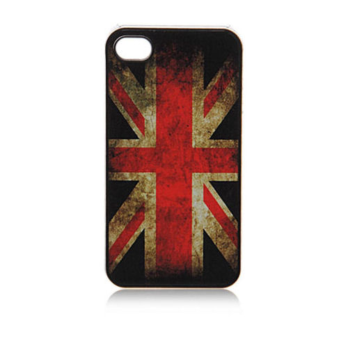 UK flag. Retro cover til iPhone 4 and 4S.