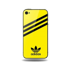 iPhone 4 / 4S Adidas cover. Gul.