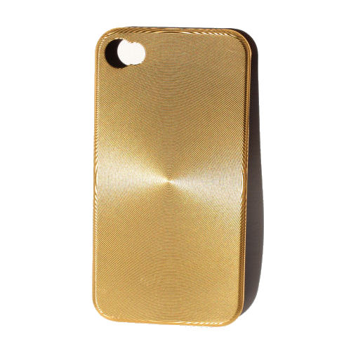 """iPhone 4 """"CD-style"""" cover. Gold."""
