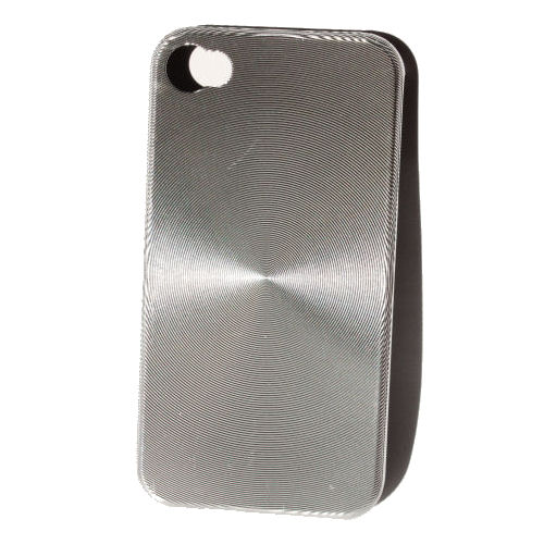 """iPhone 4 """"CD-style"""" cover. Silver."""