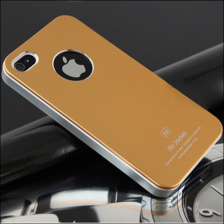 iPhone 4 and 4S Air jacket cover. Gold.
