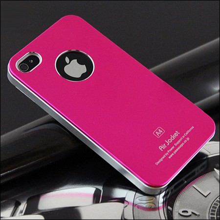 iPhone 4 and 4S Air jacket cover. Pink.