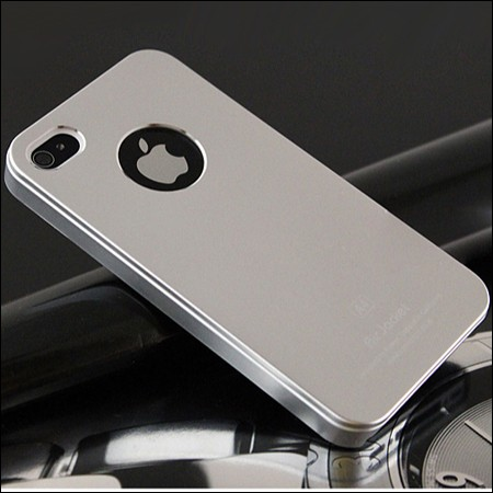 iPhone 4 and 4S Air jacket cover. Silver.