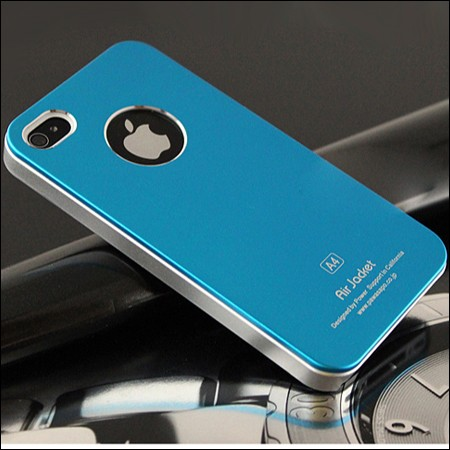 iPhone 4 and 4S Air jacket cover. Turkisblå.