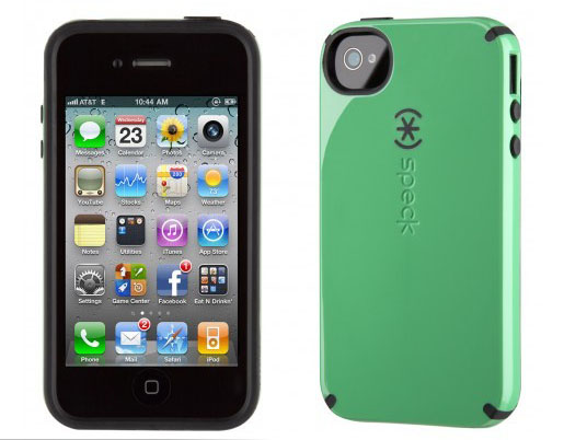iPhone 4 and 4S SPECK® CandyShell cover. Grøn/Sort.