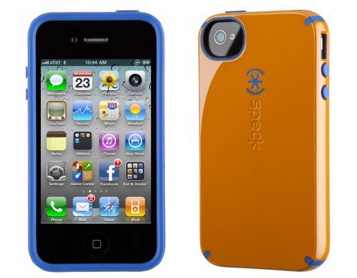 iPhone 4 and 4S SPECK® CandyShell cover. Orange/Blå.
