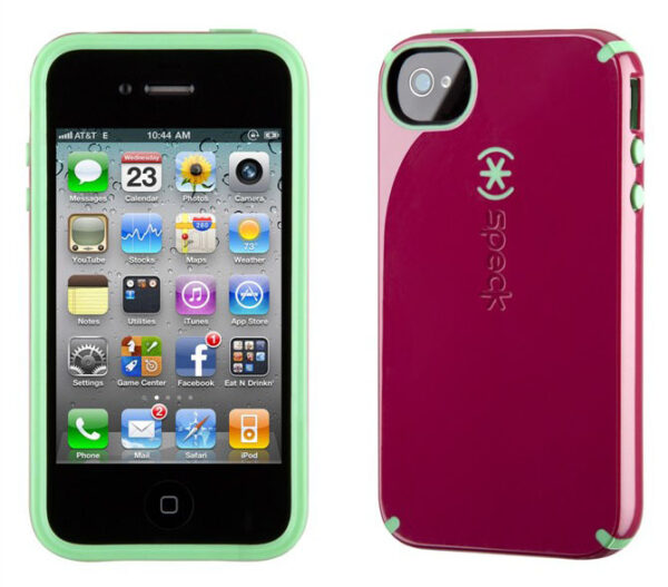 iPhone 4 and 4S SPECK® CandyShell cover. Pink/Mint grøn.