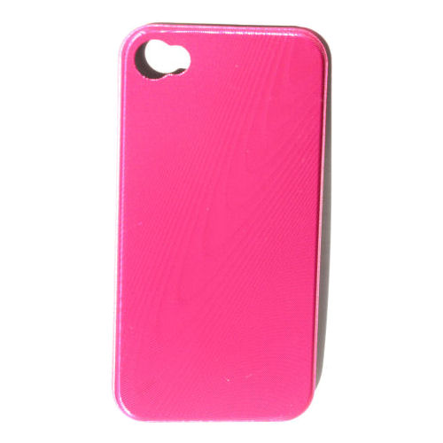 """iPhone 4 """"wood-grain"""" cover. Pink."""