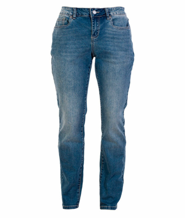 Zupply Holly +size dame stretch jeans Blå 48 34