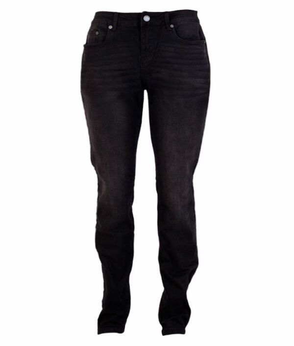 Zupply Holly +size dame stretch jeans Sort 42 34