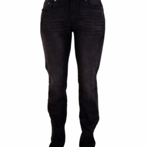 Zupply Holly +size dame stretch jeans Sort 50 34