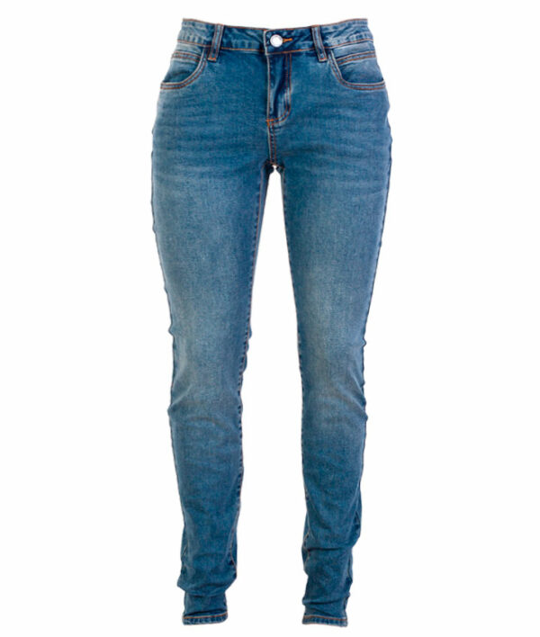 Zupply Mary +size dame stretch jeans Blå 42 34
