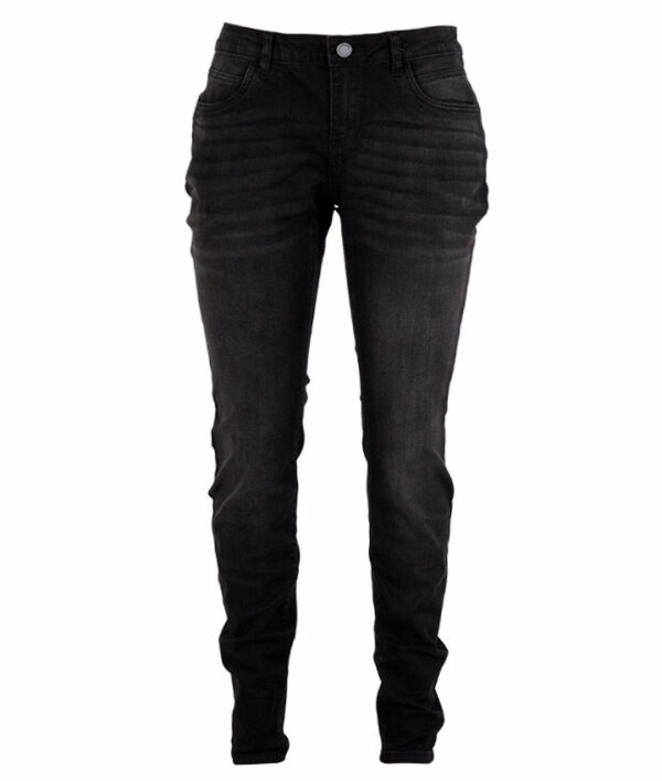 Zupply Mary +size dame stretch jeans Sort 42 34