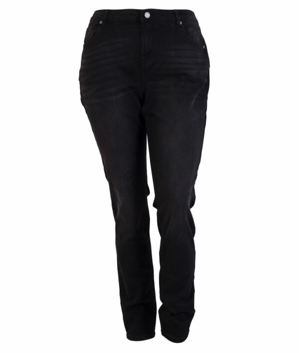 Zupply Rose +size dame stretch jeans Sort 42 32